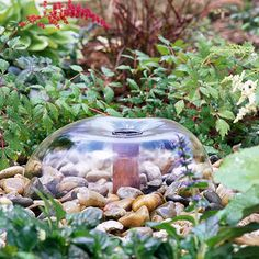 Build a Simple Bell Fountain from bhg.com...good for homes with small children ♥