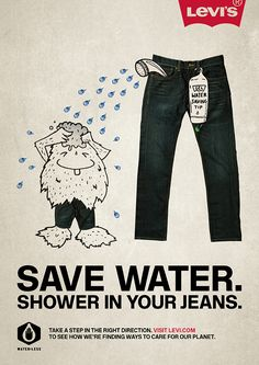 Levis Water-Less, Benefits campaign (Tia Grazette, 2010). Illustration by Johnny Lighthands.