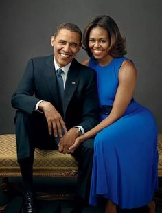 FIRST LADY MICHELLE OBAMA AND  HER HUSBAND PRES. BARACK OBAMA
