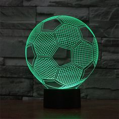 Just a energy efficient 2D LED lamp but looks like a 3D bulb, tricking your eyes and making your place look plain cool. A calming light to suit any mood at any