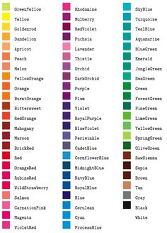 Names of colours Color Names Chart, Names Of Colors, Pantone Color Chart, Color Mixing Chart, Colors And Emotions, Colour Pallette, Color Psychology, Colour Board, Color Shades