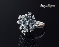 925 Sterling silver ring tree ring silver nature by OzziaQueen