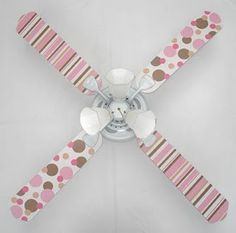 Diy ceiling fan blades medallion obviously not in pink and polka pretty little girl aloadofball Images