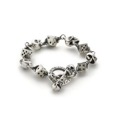 Skull and Dice Bracelet handmade by The Great Frog