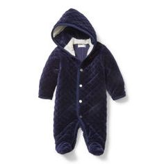 Baby Boys Navy Blue Snowsuit By Ralph Lauren Made In A