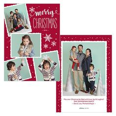 Scrapbook Christmas is a 5x7 double sided card. Visit our website for more holiday card options! | JCPenney Portraits