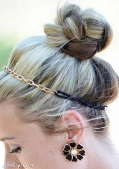 Braided Top Knot with Plaits hair blonde pretty hairstyle braided plaits hair ideas hair bun