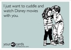 Cuddling and Disney movies...what could be better? °O°