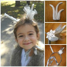 Ellie as Sven the Reindeer from Frozen - and a little step by step of the Antlers I made from bake clay. Frozen Halloween, Baking Clay, Antlers, Reindeer, Drop Earrings, Christmas Ornaments, Holiday Decor, Horns, Christmas Jewelry