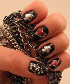 Gel Manicure Ideas For Short Nails Makeup Tutorials 62 Ideas Hot Nails, Hair And Nails, Vegas Nails, Nailart, Pokerface, Creative Nails, Black Nails, Trendy Nails, Fancy Nails