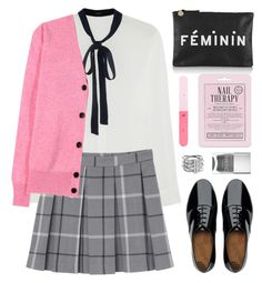 """Untitled #933"" by celida-loves-pink ❤ liked on Polyvore featuring Joseph, Monki, FitFlop, Clare V., Victoria Beckham, H&M, Love 21, Nails Inc., Michael Kors and Pink"