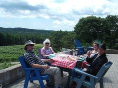 Petite Rivière Vineyards grows elegant, complex wines in a sunny microclimate on Nova Scotia's South Shore.  The LaHave River Valley Wine Region is recognized as one of the earliest grape. Outdoor Furniture Sets, Outdoor Decor, Nova Scotia, A Boutique, Wines, Terrace, Balcony, Patio, Decks