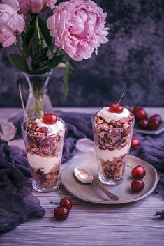 cherry coconut crumb