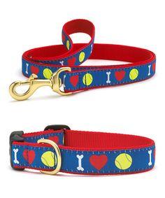 Look at this #zulilyfind! Tennis Dog Collar & Leash #zulilyfinds