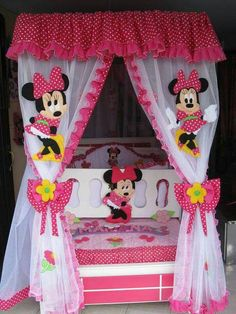 Y'all this ugly or nah? Minnie Mouse Room Decor, Minnie Mouse Toys, Boys Bedroom Furniture, Girls Bedroom, Bedrooms, Baby Doll Nursery, Baby Room, Scrapbooking 3d, Minnie Mouse Template