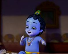 Darling of vrindavan (Little Krishna Series) - Preethi Srinivasan - Picasa Web Albums Baby Krishna, Krishna Gif, Little Krishna, Krishna Leela, Cute Krishna, Radha Krishna Wallpaper, Radha Krishna Love, Shree Krishna, Radhe Krishna