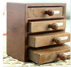 Sello de goma de madera  Vintage estilo  cajón por JolinTsai, $6.90