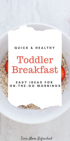 Looking for healthy breakfast toddler foods? Here is a list of easy and quick toddler food for breakfast that is easy to prepare. Breakfast food ideas for toddlers that are full of nutrition and approved by my twin toddlers. #toddlerfoods #foodtoddler #toddlersfoodideas #healthytoddlerrecipes #healthytoddlerbreakfast