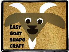 Goat craft to go with farm theme or letter G activities. Letter G Activities, Farm Activities, Letter G Crafts, Alphabet Crafts, Alphabet Letters, Preschool Projects, Preschool Crafts, Preschool Letters, Bus Crafts