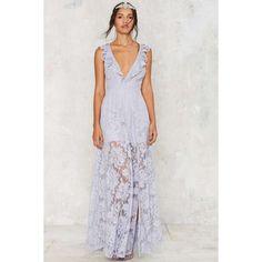 The Jetset Diaries Wanderlust Lace Dress ($269) ❤ liked on Polyvore featuring dresses, flutter sleeve dress, ruffle dress, mini dress, lavender short dress and short lace dress