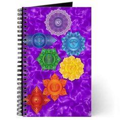 Chakras with Crown Chakra BG journal