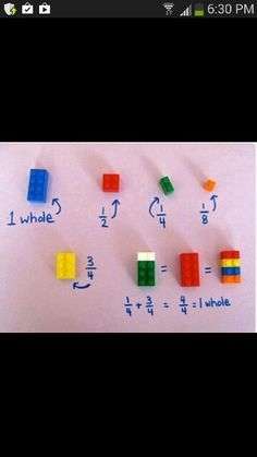 Teaching fractions with Lego...brilliant!