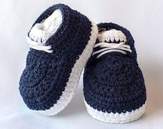 Crochet Baby Sneakers Crochet Newborn Booties Soft Sole Baby