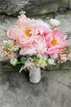 pink wedding bouquet by Heaven