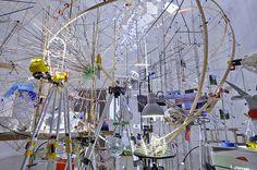 Sarah Sze, Triple Point, 2013. Vista dell'installazione al Padiglione statunitense. Photo Tom Powel #art #venice #biennale 2013