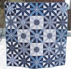 "= free pattern = Sunburst quilt, 60 x 60"", by Lynne Goldsworthy for Dear Stella Design"