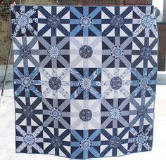 "= free pattern = Sunburst quilt, 60 x 60"", by Lynne Goldsworthy for Dear Stella Design"