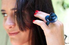 Handmade Ring. Modern Art Ring. Innovative Eco by Kairajewelry