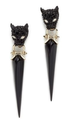 Alexis Bittar Crystal Encrusted Dangling Panther Earrings | SHOPBOP