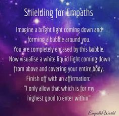 Shielding visualisation for empaths to protect yourself from negative energy. Empath Types, Empath Traits, Negative Energy Quotes, Removing Negative Energy, Psychic Empath, Intuitive Empath, Empath Abilities, Psychic Abilities, What Is An Empath