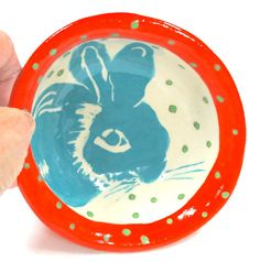 Handmade BUNNY bowl by TheClayBungalow etsy
