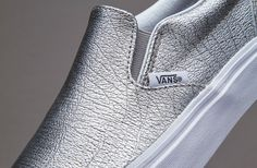 6b7228d7946f03 Vans Classic Slip-On - (Foil Metallic) Silver   True White