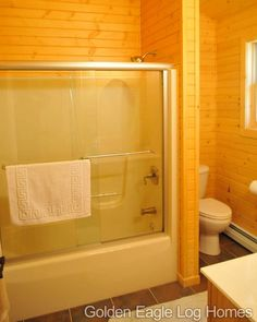 Very simple bathroom layout in on of our get-away cabins.  Photos and floor plans are at www.GoldenEagleLogHomes.com  #loghomeliving #construction #loghomes #loghome #logcabins #cabin #logcabins #home #homes #houzz #outdoors #nature #rusticliving