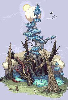 Dragon Tree[Pixel Art] by PeL07.deviantart.com on @deviantART