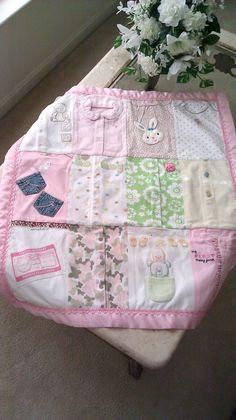 Love this idea! Baby Girls Memory Blanket by TMEbyRebekah on Etsy, $95.00