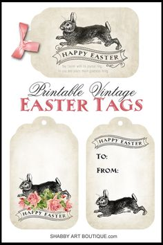 Free easter printable vintage easter tags happy easter free free easter printable vintage easter tags happy easter free printables and easter negle Choice Image