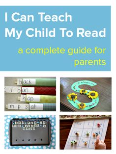 I Can Teach My Child To Read - a complete guide for parents