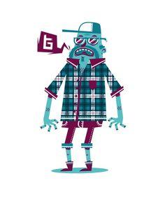 Mr Bones Ilustrador, Animador y branding de Melbourne, Australia.  http://thefoxandking.com/