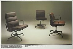 Vintage @Vitra catalog featuring authentic European made #Eames Soft Pad Group