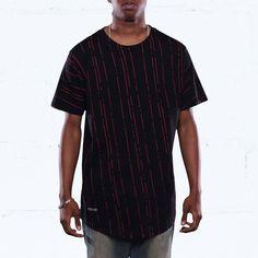 Make It Rain Curved Hem T Shirt Black