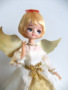 Vintage Angel Tree Topper by VintageByJade on Etsy, $65.00