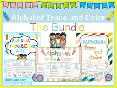 The Bundle include these following packets: Alphabet Trace and Color Alphabet Trace and Color ( Set 2 ) Alphabet Trace and Color ( Set 3 )