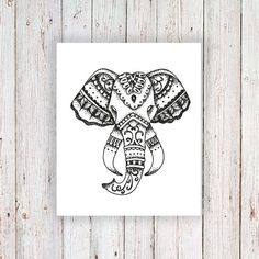 Tatouage temporaire éléphant / éléphant chef par Tattoorary sur Etsy