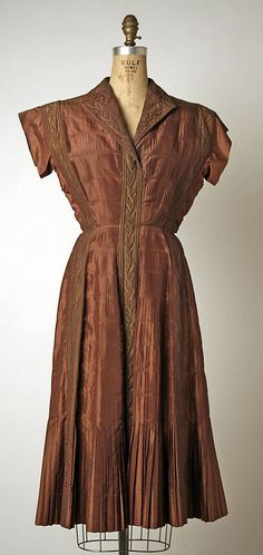Afternoon dress | Bruyère (French, founded 1928) | Date: 1946–47 | Culture: French