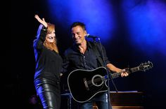Patti Scialfa and Bruce Springsteen performs at The New York Comedy Festival And The Bob Woodruff Foundation Present The 7th Annual Stand Up For Heroes Event at The Theater at Madison Square Garden on November 6, 2013 in New York City.