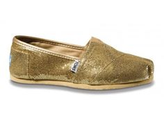 never owned a pair of TOMS but these glitter gold ones would be cute for FSU games